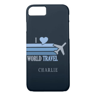 World Travel custom name phone cases
