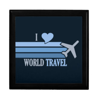 World Travel gift / jewelry box, customizable Gift Box