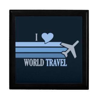 World Travel gift / jewelry box, customizable Large Square Gift Box