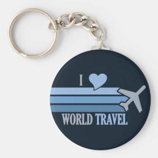 World Travel key chain