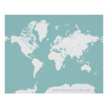 World Travel Map - Customisable Background Colour