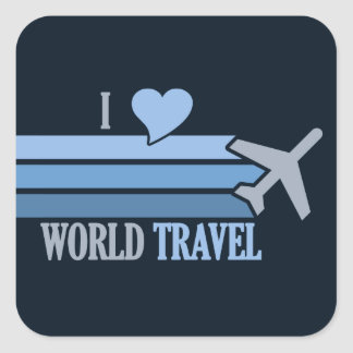 World Travel stickers, customizable Square Sticker
