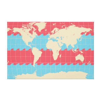 World Traveler Colorful Map of the Earth Canvas Print