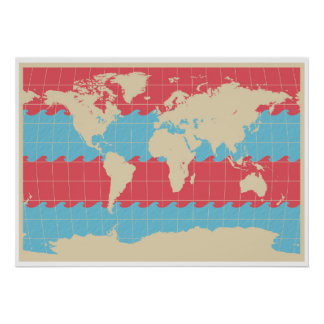 World Traveler Colorful Map of the Earth Poster