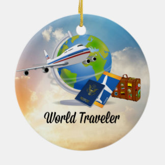 World Traveler, Design 2 Christmas Ornament