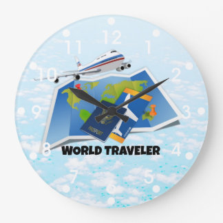 World Traveler Large Clock