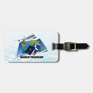 World Traveler - Map, Passport, and Tickets Bag Tag