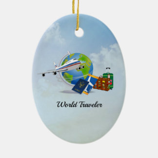 World Traveler, packed and ready to go Christmas Ornament