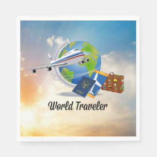 World Traveler Paper Serviettes
