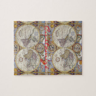 World Traveler Vintage Map Thunder_Cove Jigsaw Puzzle