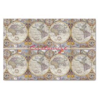 World Traveler Vintage Map Thunder_Cove Tissue Paper