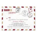 World Traveller Airmail | Bridal Shower 13 Cm X 18 Cm Invitation Card