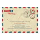 World Traveller Airmail | Bridal Shower Card