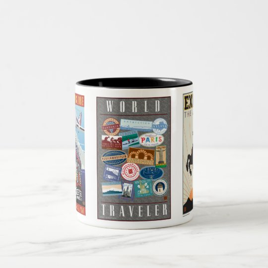 World Traveller-Mug Two-Tone Coffee Mug