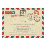 World Travler Airmail | Bridal Shower 13 Cm X 18 Cm Invitation Card
