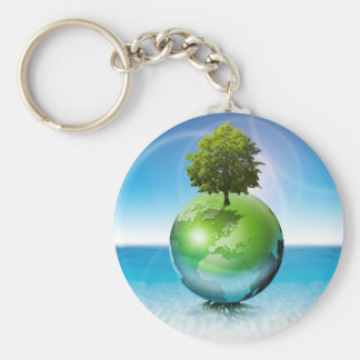 World tree -  ecology concept key ring