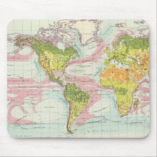 World vegetation & ocean currents Map Mouse Mat