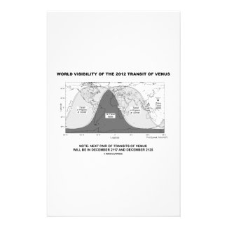 World Visibility Of The 2012 Transit Of Venus Custom Stationery