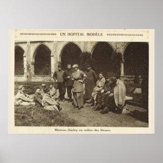 World War 1, France, Model Hospital Poster