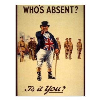World War 1 John Bull Postcard