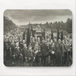 World War 1, Soldiers in Gas Masks Mousepad