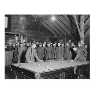 World War 1 YMCA Pool Hall 1910s Post Cards