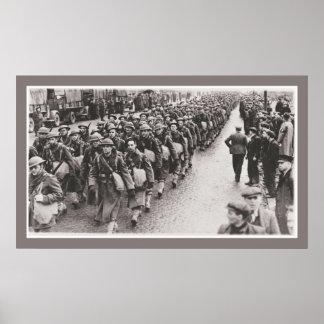 World War 2 American soldiers in Northern Ireland Poster