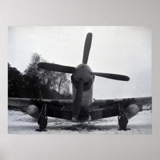 World War 2 fighter plane Poster