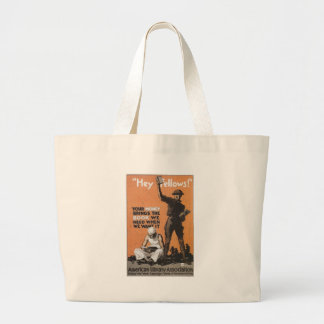 World War 2 Hey Fellows Canvas Bags