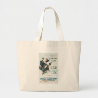 World War 2 Join The Navy Canvas Bags