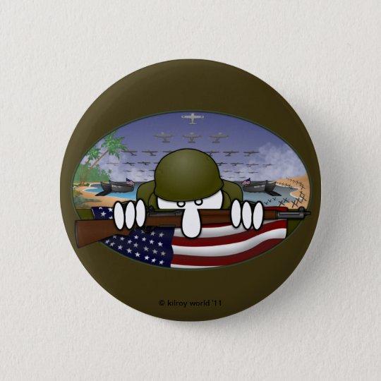 World War 2 Kilroy Basic Button