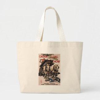 World War 2 Order Coal Now Canvas Bag