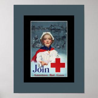 World War 2 Red Cross Nurse Poster
