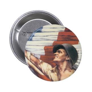 World War 2 Soldier 6 Cm Round Badge
