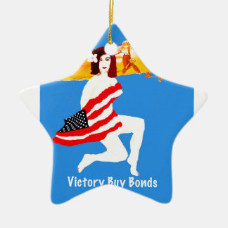 World War 2 Victory Ceramic Star Decoration