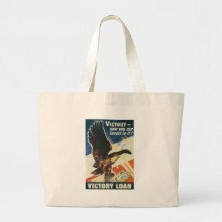 World War 2 Victory Loan Canvas Bags