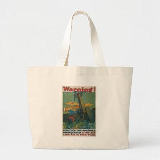 World War 2 Warning Jumbo Tote Bag