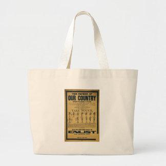 World War I American Recruiting Poster Jumbo Tote Bag