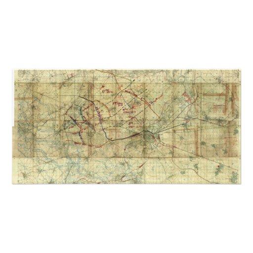 World War I Battle of the Canal du Nord Battle Map Custom Photo Card