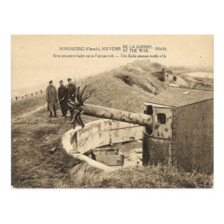 World War I, Belgium, Mariakerke, Guns Postcard