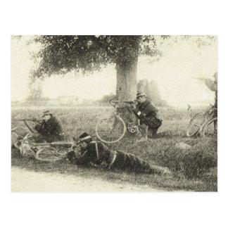 World War I, Bicycle Brigade Postcard