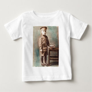 World War I Boy and Toy Cannon Hand Tinted T Shirts