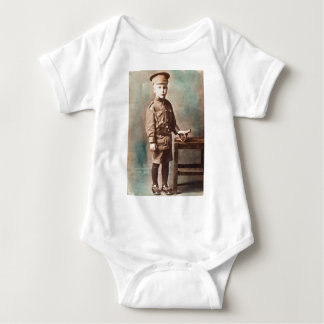 World War I Boy and Toy Cannon Hand Tinted Tshirts