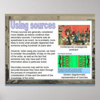 World War I, Using information sources Poster