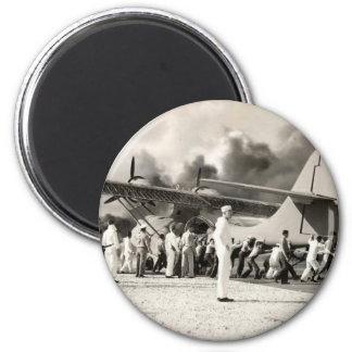 World War II 6 Cm Round Magnet