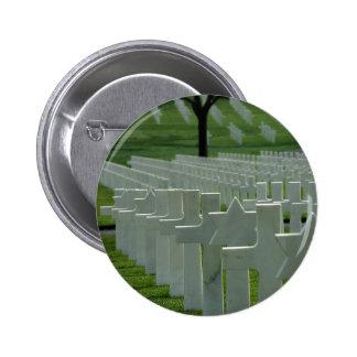 World War II cemetery, Memorial Day 6 Cm Round Badge