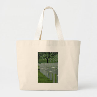 World War II cemetery, Memorial Day Jumbo Tote Bag