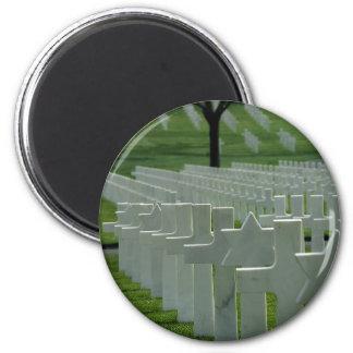 World War II cemetery, Memorial Day Fridge Magnets