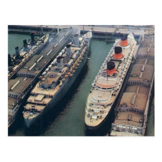 World War II Color Postcard RMS Queen Mary