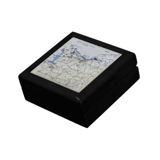 World War II D-Day Map June 6, 1944 Gift Box